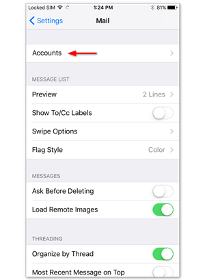 Setting up mail on iPhone (iOS 10) – Support | One com