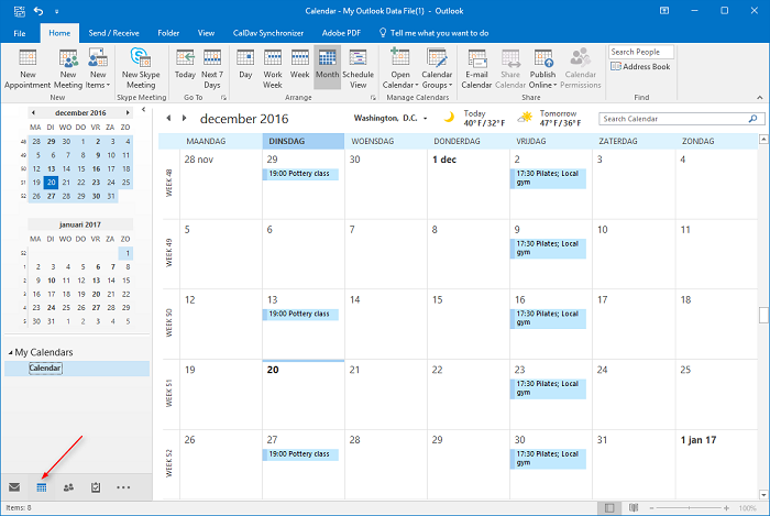 You are all done, your calendar is now being synced