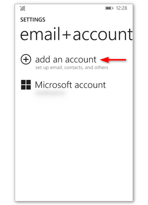 Tap Add account