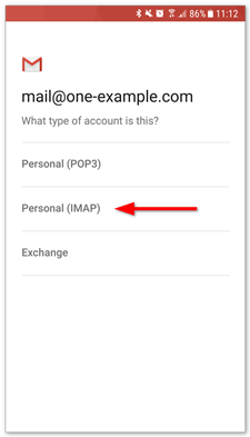 Setting up email in Gmail on Android – Support | One com