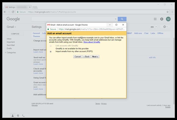 gmail error code 2002
