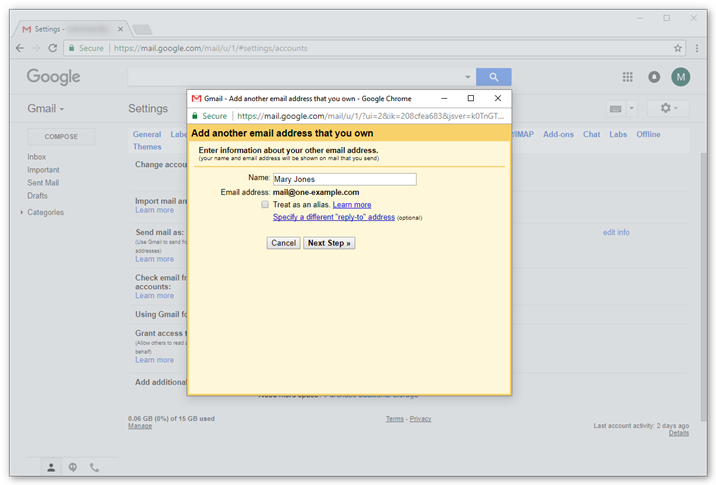 how to set up smtp for gmail