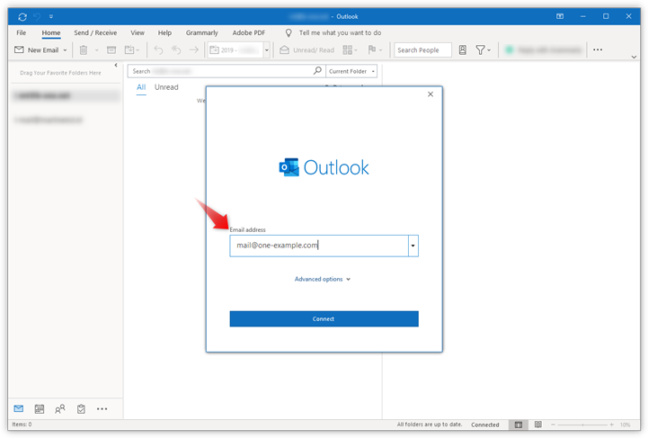 Setting up Microsoft Outlook 10 – Support  one.com